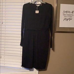 Black Abigail jersey dress
